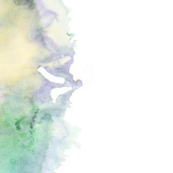 Abstrait de peinture verte et jaune