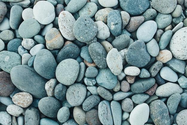 Abstrait avec des pierres de galets rondes et sèches.