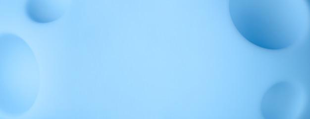 Abstrait de la planète bleue de dessin animé, jouet de lune avec des cratères, image panoramique