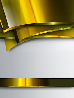 Abstrait avec des plaques d'or