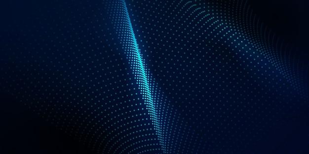 Abstrait avec des points dynamiques. technologie particle mist network cyber