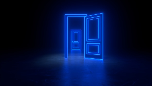 Abstrait porte ouverte sur l'univers