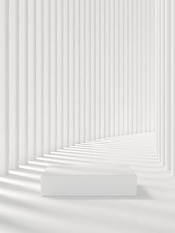 Abstrait pour l'image de marque du produit. maquette de scène avec un espace vide. rendu 3d