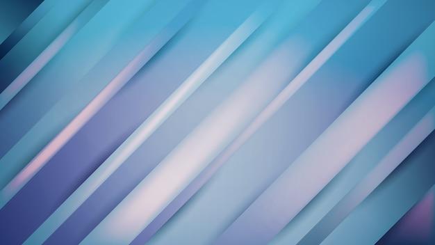 Abstrait rayé avec des lignes diagonales avec dégradé bleu