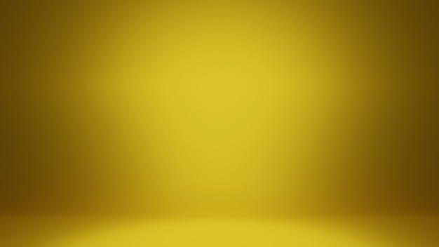 Abstrait de rendu 3d. or jaune lisse avec vignette noire