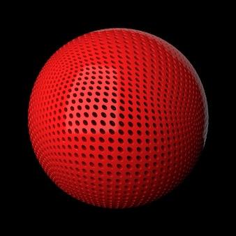 Abstrait de rendu 3d. surface de déplacement. motifs aléatoires extrudés à partir de la forme de la sphère.