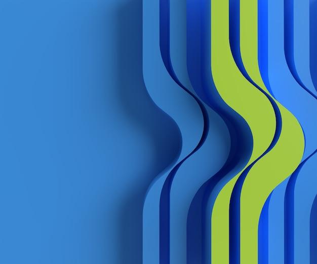 Abstrait de rendu 3d avec des vagues. concept architectural créatif.