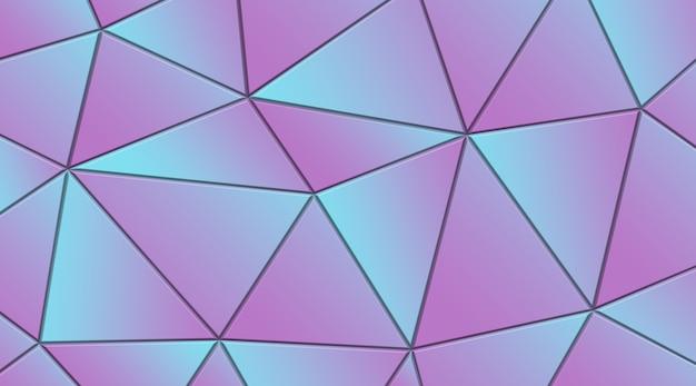 Abstrait avec rendu de forme dégradé polygonale géométrique