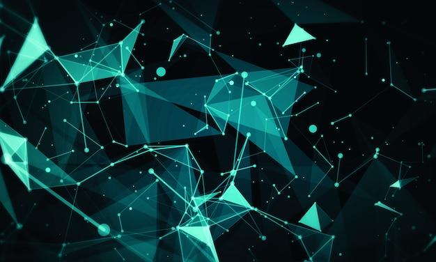 Abstrait de réseau. concept de ligne de plexus