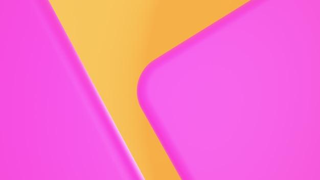 Abstrait rond formes roses sur jaune