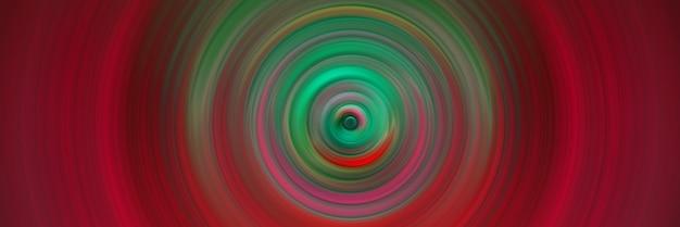Abstrait rond rouge. cercles à partir du point central. image de cercles divergents. rotation qui crée des cercles.
