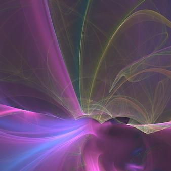 Abstrait rose lignes fractales