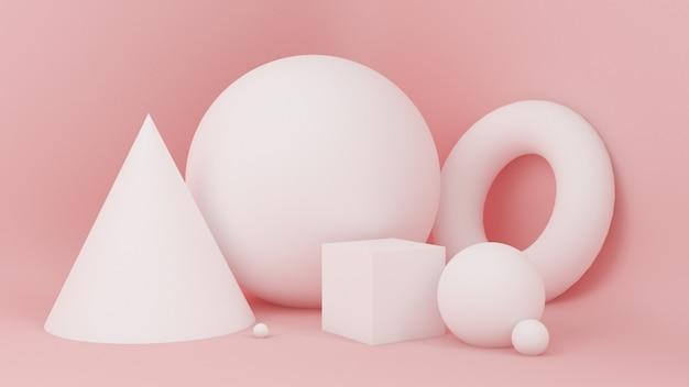 Abstrait rose, particule de minimalisme de studio.