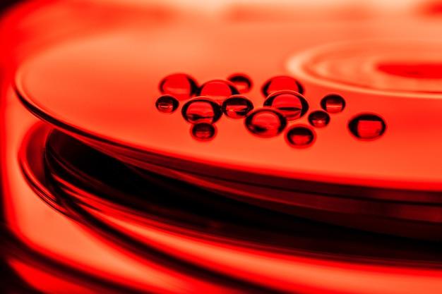 Abstrait rouge amour coeur valentine conception illustration modèle carte vague lumière sang eau bleu décoration texture papier peint noir jour coeurs art couleur soie
