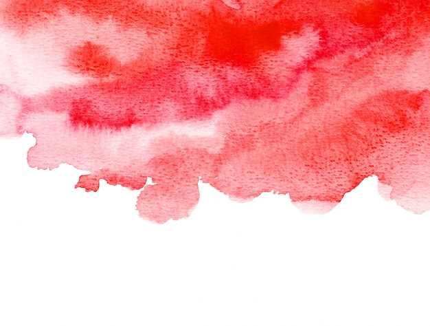 Abstrait rouge aquarelle art main peinture fond. fond aquarelle.