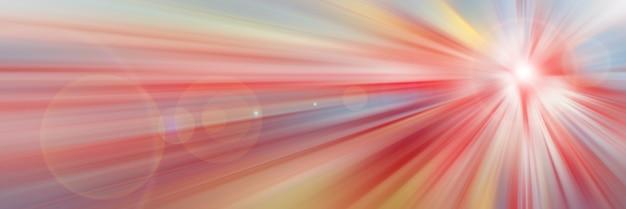 Abstrait rouge. flash lumineux de lumière. explosion légère du point central.