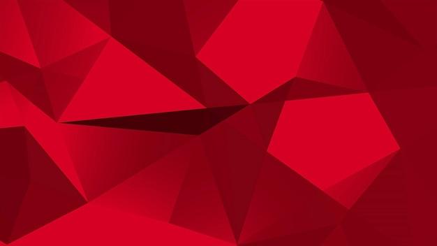 Abstrait rouge low poly, forme géométrique de triangles. style dynamique élégant et luxueux pour les entreprises, illustration 3d