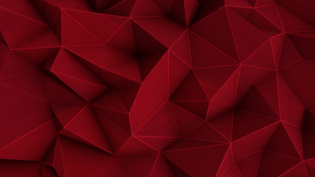 Abstrait rouge polygonale