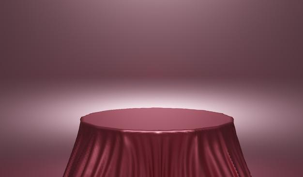 Abstrait, scène de maquette avec podium pour l'affichage du produit. rendu 3d.