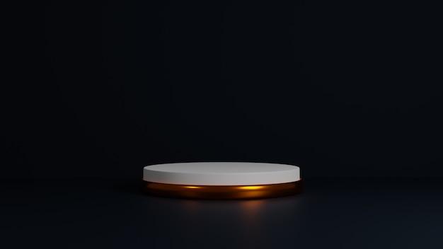 Abstrait scène minimale, or cylindre