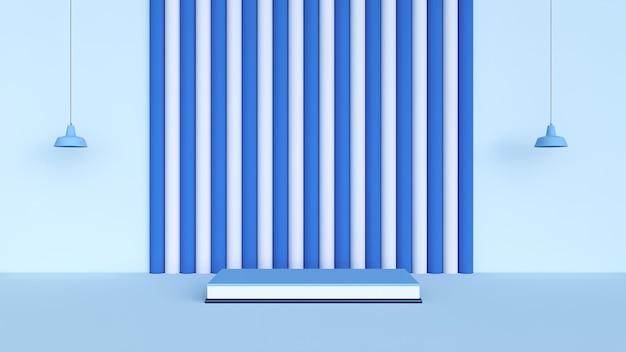 Abstrait, scène pour l'affichage du produit, rendu 3d