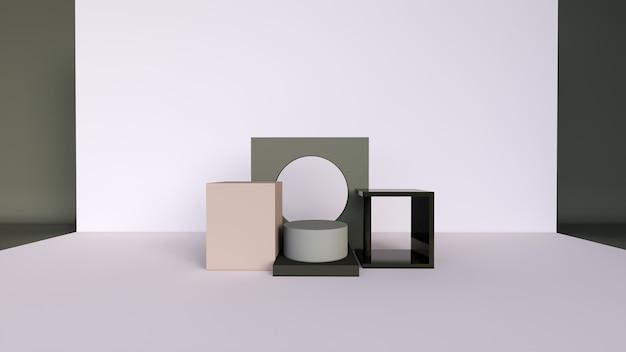 Abstrait, scène pour l'affichage du produit
