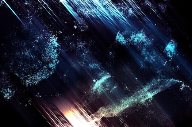 Abstrait, sci-fi espace style rétro