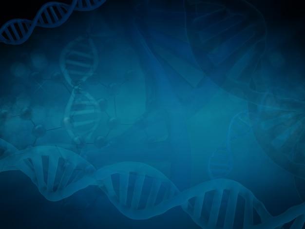 Abstrait de la science avec la structure de l'adn et de la molécule