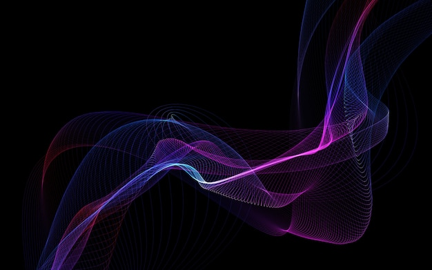 Abstrait sombre avec des vagues abstraites brillantes, fond abstrait