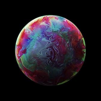 Abstrait avec sphère rose et bleu foncé