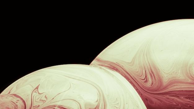 Abstrait avec des sphères brunes douces