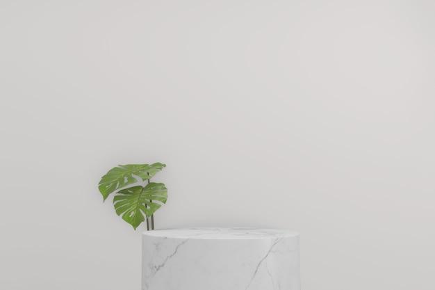 Abstrait de style blanc et or géométrique minimal de podium blanc