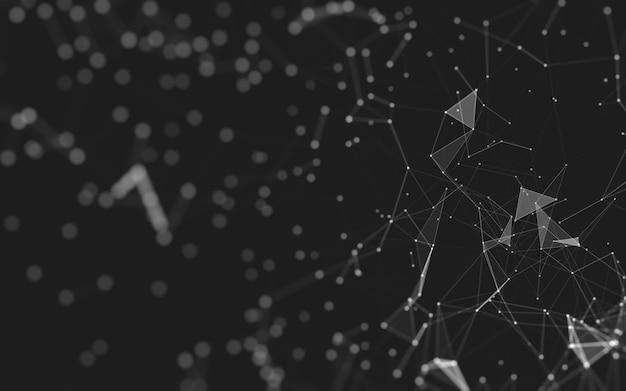 Abstrait technologie des molécules avec des formes polygonales, reliant des points et des lignes. structure de connexion. visualisation big data.