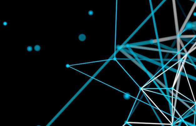 Abstrait de la technologie numérique. structure de connexion réseau.