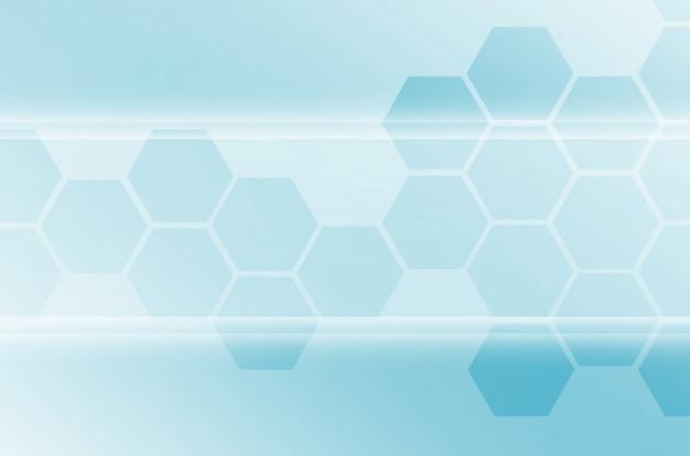 Abstrait technologique consistant en un ensemble d'hexagones