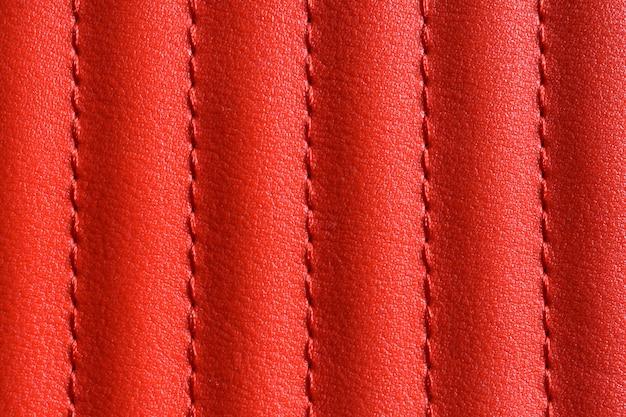 Abstrait de texture cuir rouge