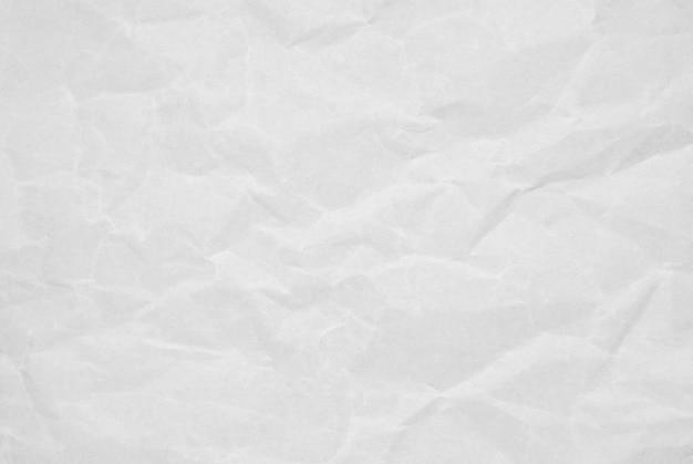 Abstrait de la texture du papier blanc froissé avec grunge.