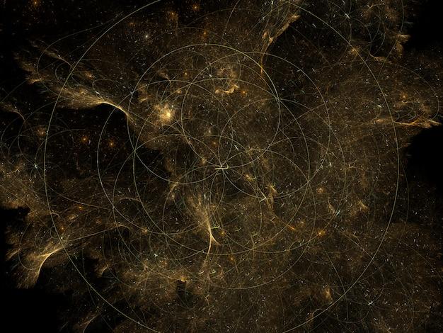 Abstrait de texture fractal luxuriant imaginaire