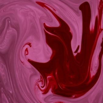 Abstrait texturé marbré rouge et rose
