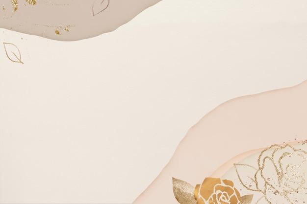 Abstrait de texture or floral