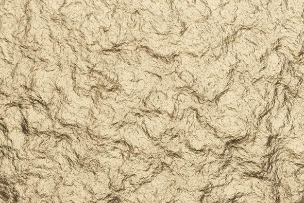 Abstrait de texture réaliste en métal doré clair.