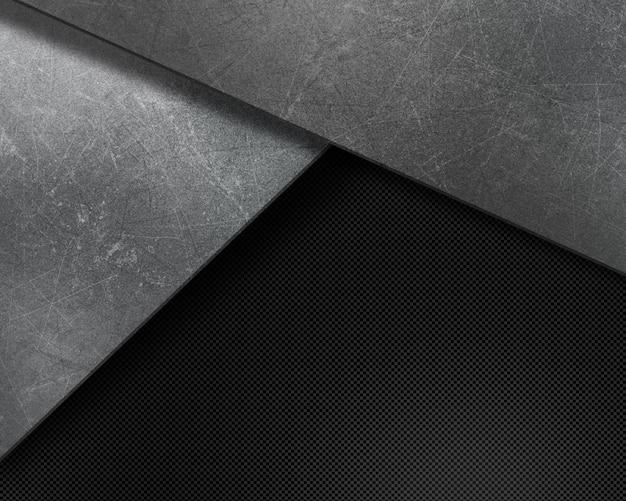 Abstrait avec des textures rayées grunge sur fibre de carbone