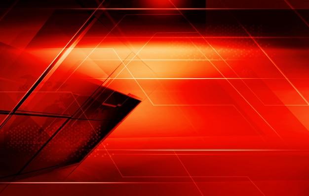 Abstrait de thème rouge graphique avec des lignes de bord en surbrillance