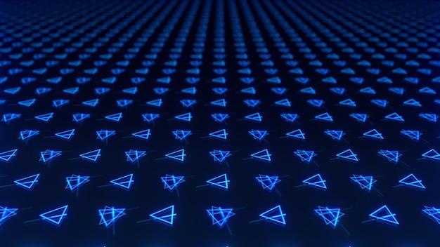 Abstrait de triangles colorés symétriquement