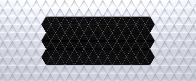 Abstrait triangulaire blanc et noir. rendu 3d.
