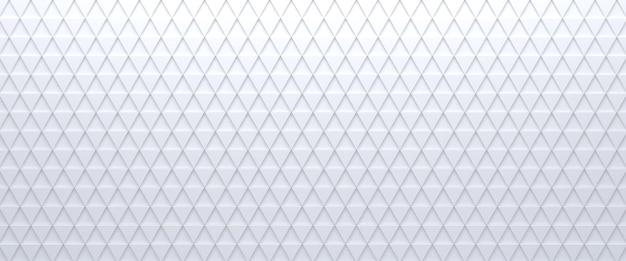 Abstrait triangulaire carrelé blanc. surface de triangles extrudés. rendu 3d.