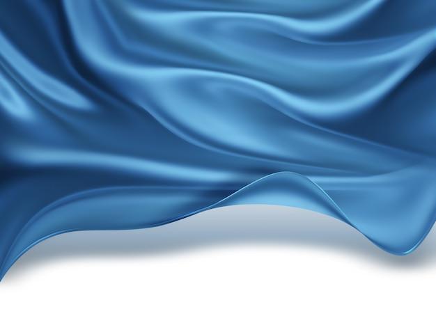 Abstrait avec des vagues de soie bleue