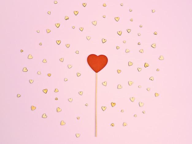 Abstrait valentin fond rose