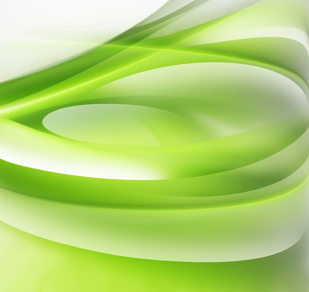 Abstrait vert avec des lignes douces