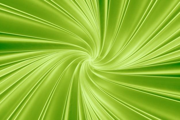 Abstrait vert de torsion des bandes tridimensionnelles dans l'illustration 3d du tunnel